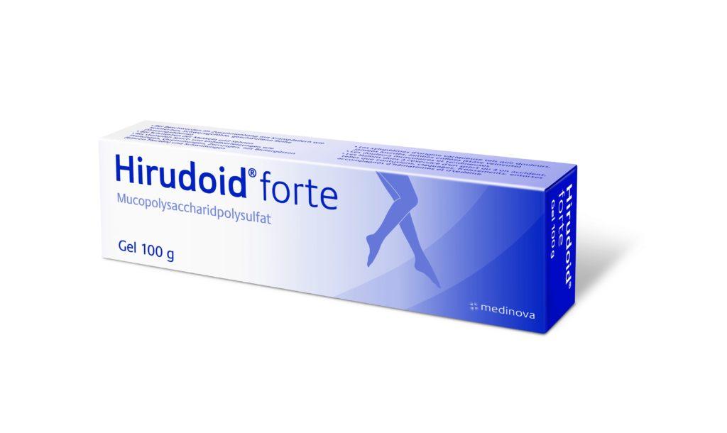 Das Hiruduid forte Gel in der 100g-Tube hilft bei Venenprobleme.